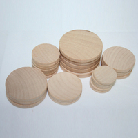 Various Wooden Round Circle Wooden Disc Wood Coins Natural Unfinished Circle