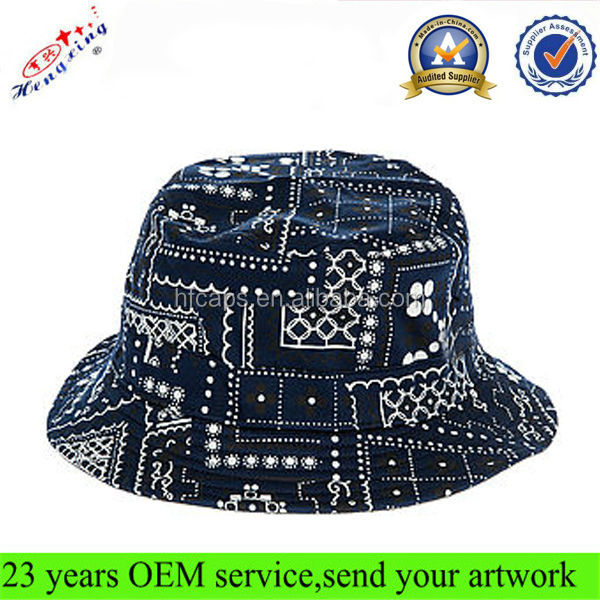 Stylish Hot Sale Cheap Designed Printed Terry Towel Bucket Hat