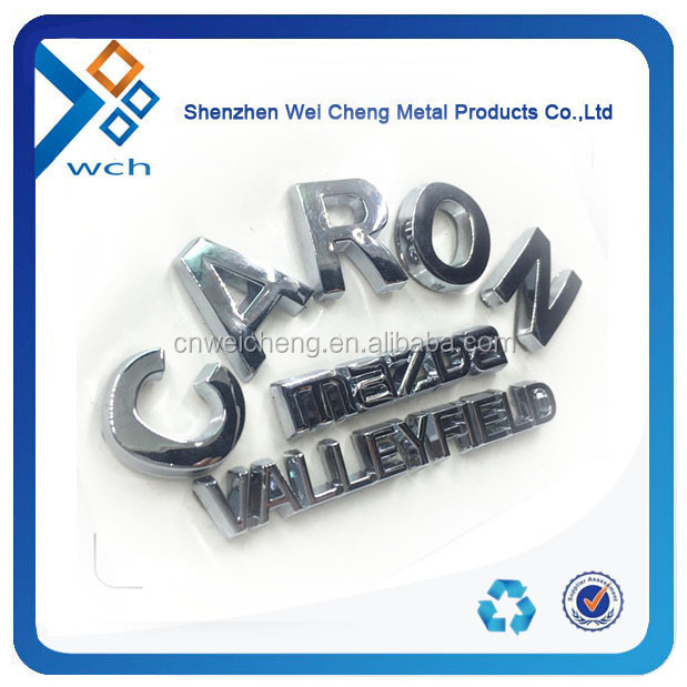 3D Plastic Car Logo /Custom 3D Car Emblem /ABS Chrome Car Badge