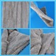 Plush velboa 100%polyester for toys fabric grey color 500g/m 10mm pile length