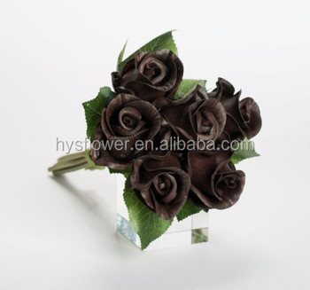 Brown Black Roses Unique High Quality Flowers Artificial Pu Rose
