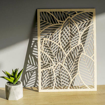 Falling Leaves Laser Cut Wall Decor Art Etched Hanging For Your Home In Contemporary Design Style