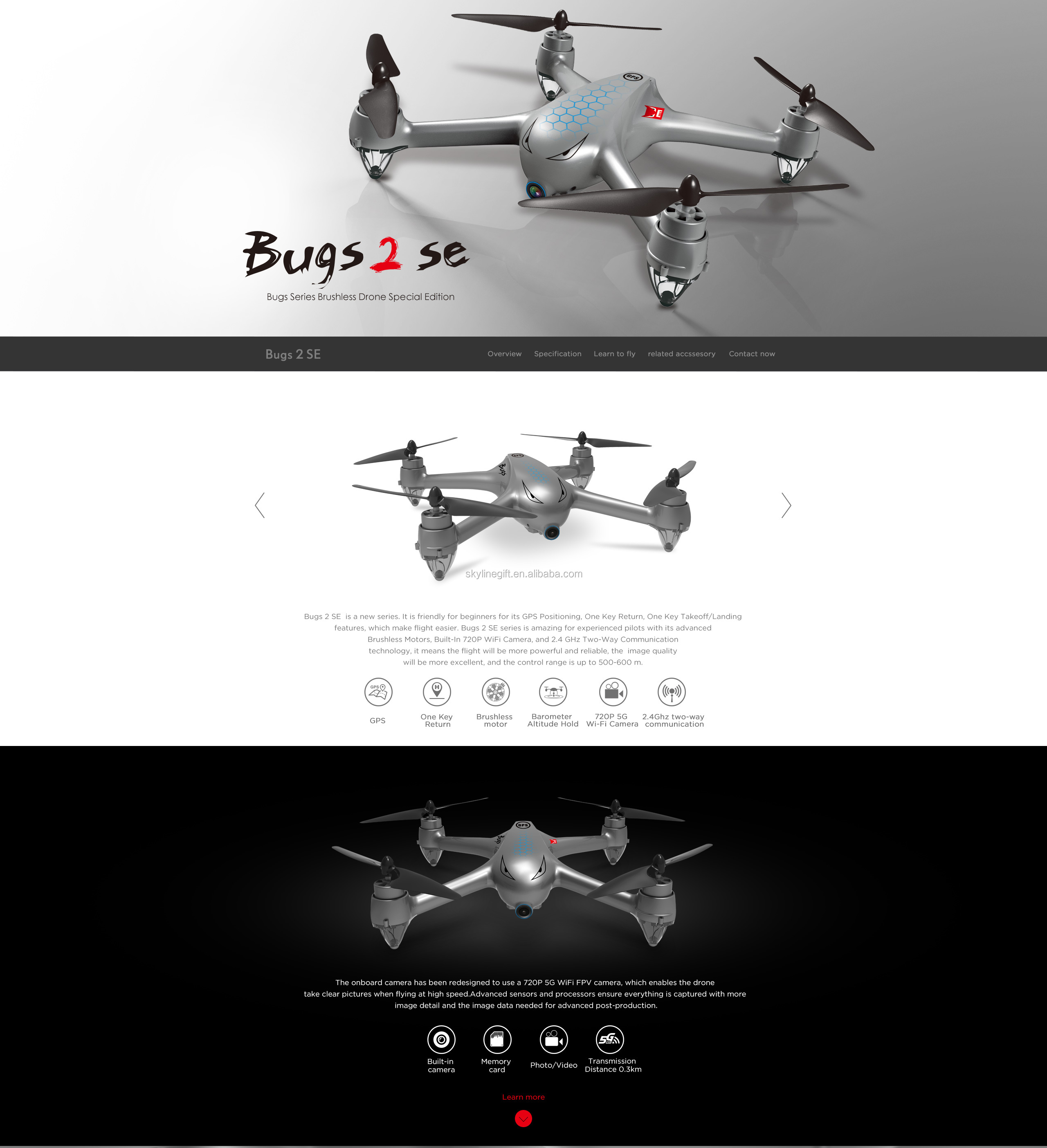MJX Bugs 2SE brushless Motor 720P 5G WIFI Camera 2.Ghz two-way communication GPS Drone