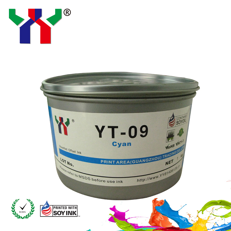 Sheet Fed Fast Dry High Gloss Offset Printing Soya Ink YT-09