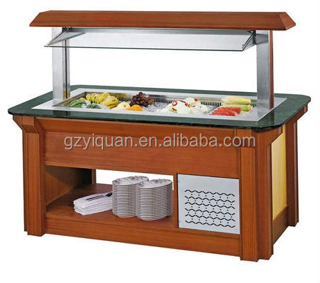 Stainless Steel Salad Bar Restaurant Equipment