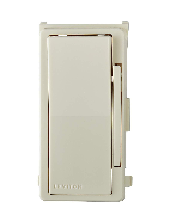 Leviton 6674-P0I 8 Pack Decora SureSlide Slide CFL LED dimmer Ivory