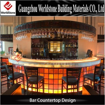 Half Round Acrylic Lighted Bar Counters For Lounge Bar Buy Bar