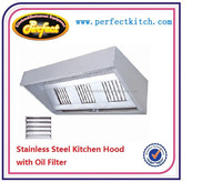 Stainless Steel Commercial Kitchen Extractor Hood /Restaurant Range Cooker Hood