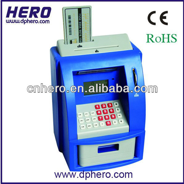 ATM Bank personalized money box with counting