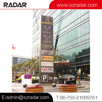 New design cheap price indoor guide board advertising pylon sign for mall/Architectural multi-tenant pylon signn