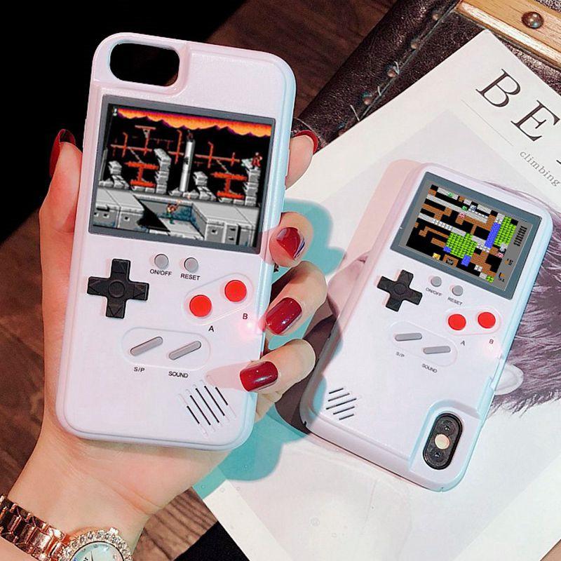 Pieno display a colori di Gioco casse del telefono carica smartphone caso gameboy cassa del telefono per il iphone 11