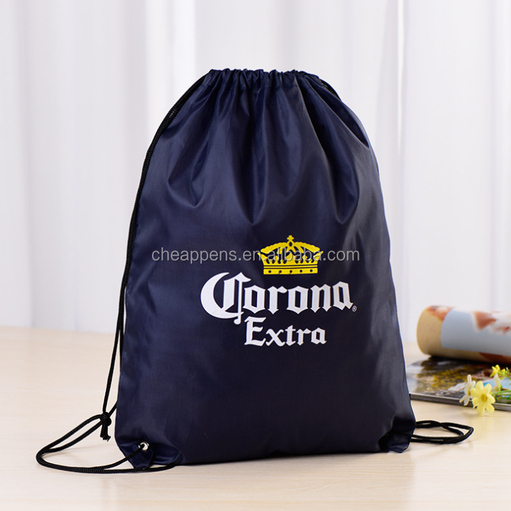 Manufacturer custom design polyester pocket, environmental protection bundle nylon shopping bag