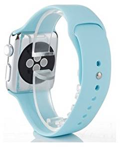 Apple Watch Band, LETO City Soft Silicone Replacement Sport Band Strap Bands Replacement Bracelet for 38mm 42mm Apple Watch iWatch (38mm Mint Green)