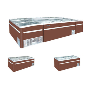 Hot selling type R404a island freezer for frozen food