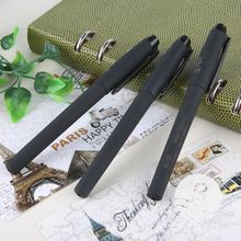 Promotional Low Price Plastic Black Pen Normal Gel Pen Ink Items Factory Direct Selling Pen Logo Custom