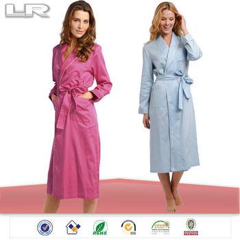 2098c27089 Piping Womens Robe Long Natural Fibre Fancy Bathrobe Cotton - Buy ...