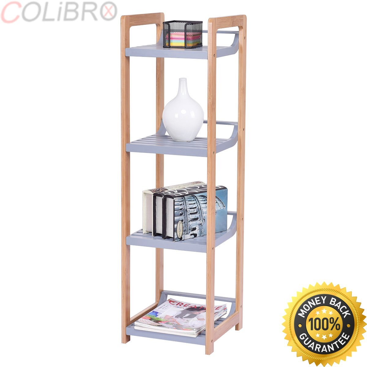 Get Quotations Colibrox 4 Tier Multifunction Storage Tower Rack Shelving Shelf Units Stand Bamboo Bathroom E