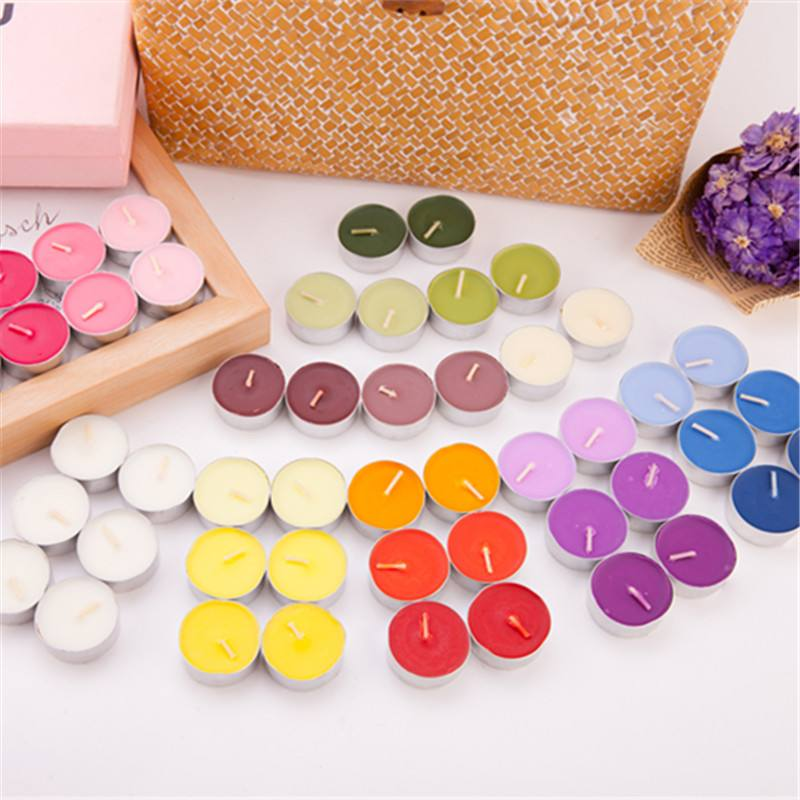 Multi Bright Colored Paraffin Wax High Quality Tealight Candle On Sale
