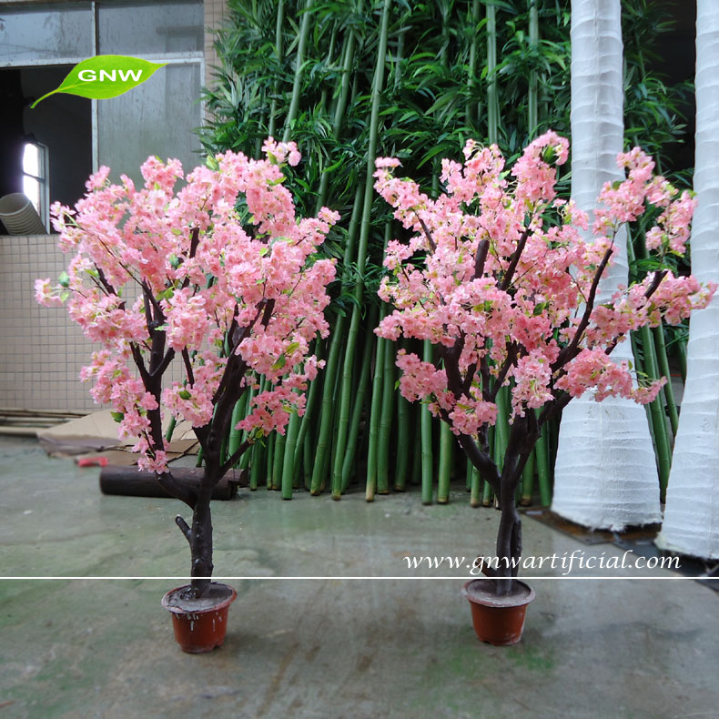 GNW BLS041-1 Artificial cherry flower indoor blossom tree for home wedding decoration