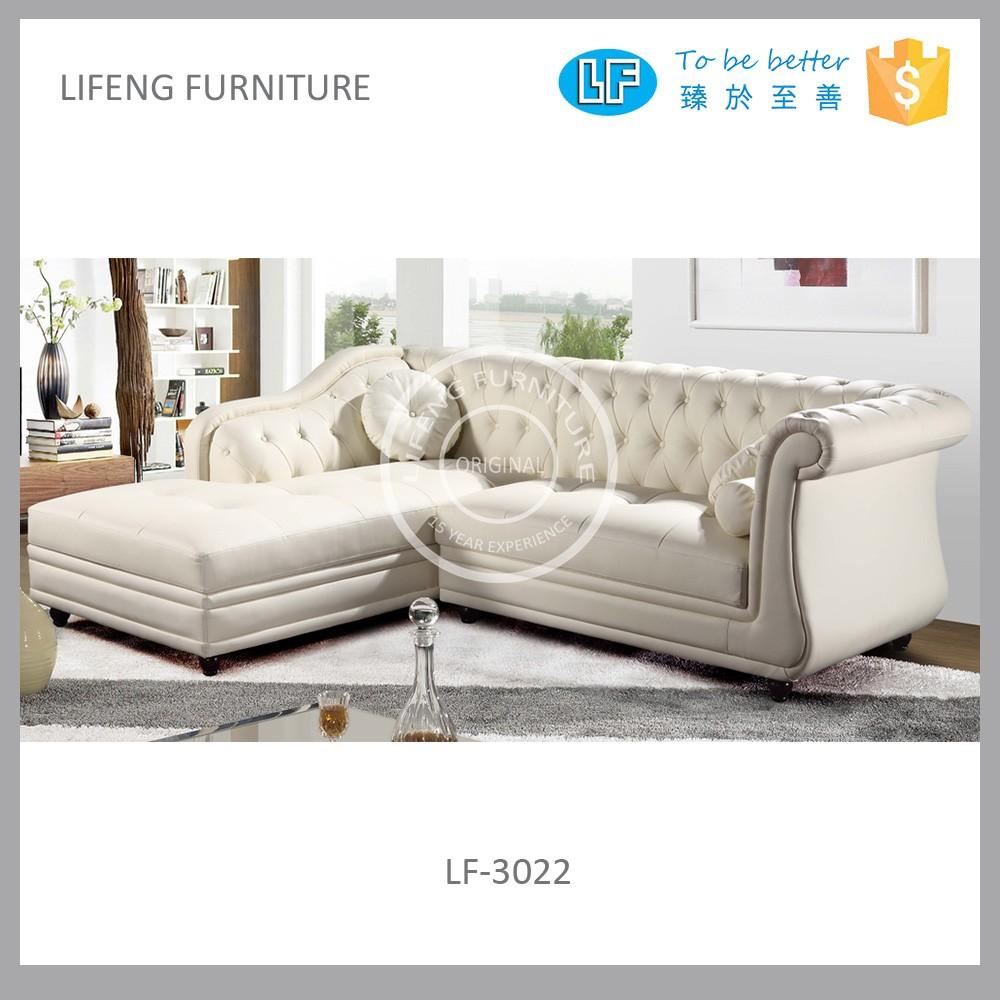 Popular Modern French Style Leather Corner Sofa LF 3022