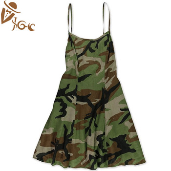 5eeed3aa0acc7 handsome and sexy camouflage vest suspender skirt with spaghetti strap