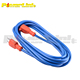 H60036 25ft Blue Heavy Duty Electric Extension Power Cord 12 Gauge Cable Indoor Outdoor