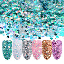 Arte de uñas Multicolor brillantina a granel de <span class=keywords><strong>alta</strong></span> calidad al por mayor