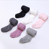 Fashion solid rib newborn baby pantyhose japanese baby tights