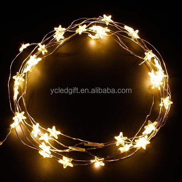 Warm White Battery Powered Fairy Lights Snow Shape Led Festival ...