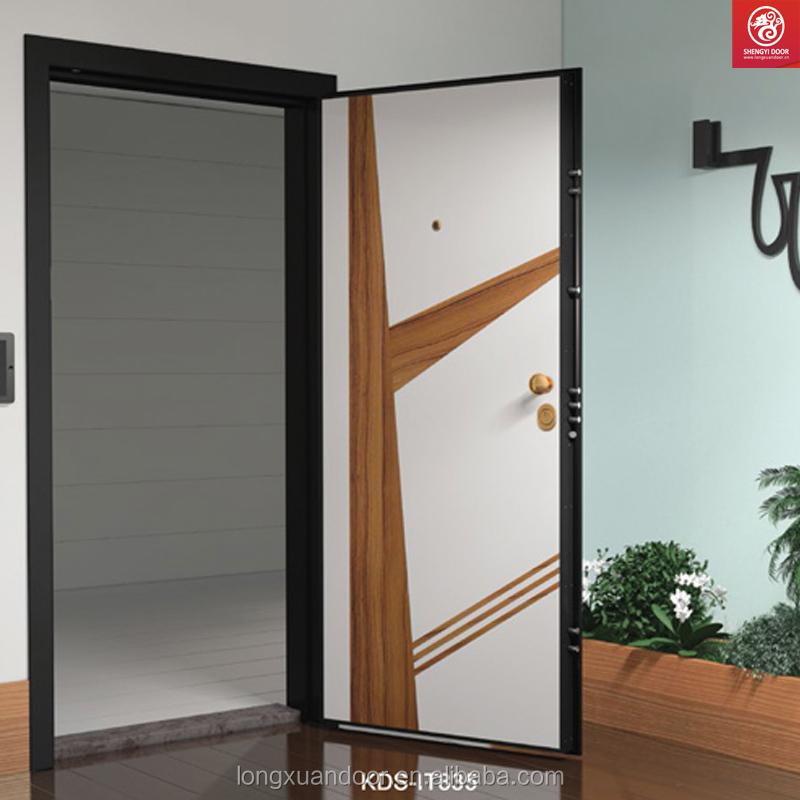 Porte ext rieure ext rieur bois acier au porte blind e for Porte exterieur design