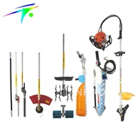 Multifunction brush cutter, hedge trimmer, tea harvester, tiller