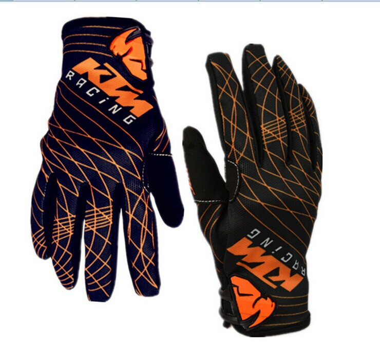 Classic orange stripes KTM cross-country gloves Bicycle gloves Motorcycle gloves cycling racing gloves
