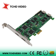 2channels HDMI video capture card with loop through 1080P60 PCIE SDK support H264 for video streaming game capture