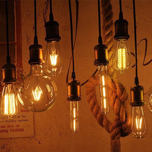 Vintage LED Filament Light Bulb 6W Supper Warm Edison T45 Clear Style Decorative Household Lamps Dimmable