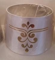 Cylinder Silk Imitation Lamp Shade Print Lampshade for Table Lamp