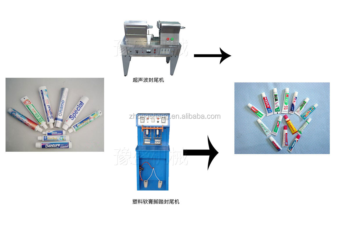 CE certification semi automatic plastic hand lotion tubes sealing machine for sale