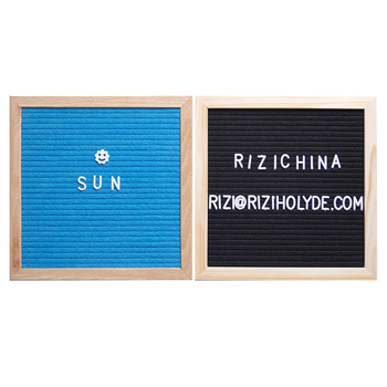 Hot Sale Home wedding Gift Decorative Creative changeable Sign slotted customized Felt Message Letter Board With Wooden Frame