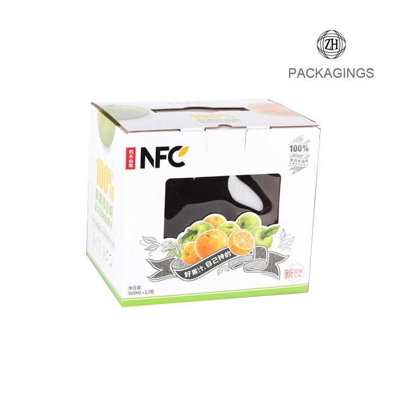 Clear window paper fruite packaging box transparent window box