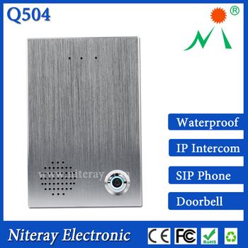High Technology Sip Intercom System Sip Door Phone Work With Mobile Voip  App Open Door Remotely & Talk With Visitor - Buy Intercom System,Mobile  Voip