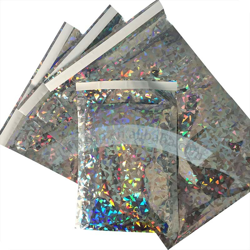 holographic mailer bags 320x450mm large poly mailers 12x15 in C3 size