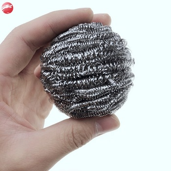 Factory hot sale stainless steel scourer scrubber dish cleaning ball