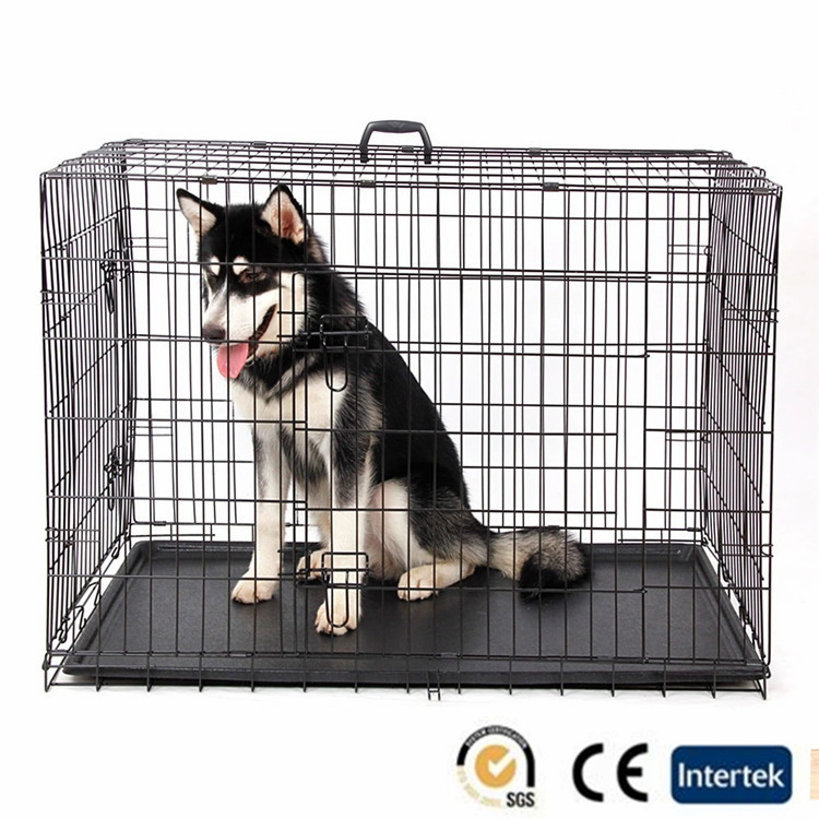 modular double steel iron welding wire mesh dog cage