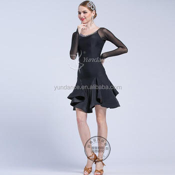 bdf80f8c127d2 Ballroom And Latin Practice Wear Black Tailor Made Lp-1701 - Buy ...