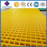 "FRP molded grating 1-1/2"" thick, 1-1/2"" square mesh with grit"