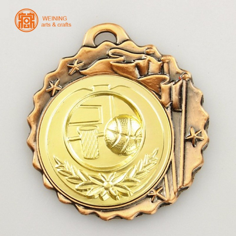 Customized 3D design metal award medals antique/bronze /brass/gold/silver/zinc alloy sport medal