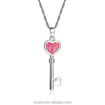 f4146b382a69 En línea tienda de joyería nombres marcas de joyería abre tu corazón clave  colgante ...