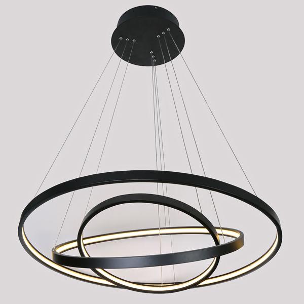 Black Circle Led Pendant Light