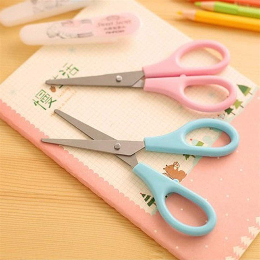 Scissors Cutting Supplies Durable Folding Scissors Medium Trip Foldable Carry-on Portable Small Scissors School Home Office Art Supplies 1 Pcs