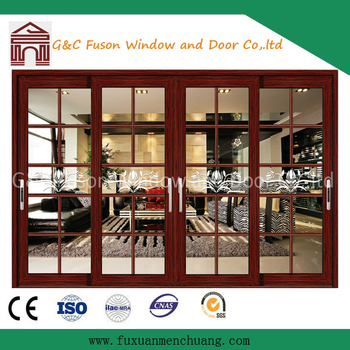 Wood Clad Aluminium Sash Doors Wooden Sliding Door Philippines Price ...