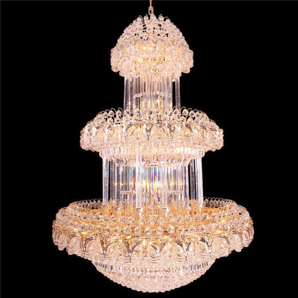 Lotus Crystal Glass Indian Chandelier Lighting